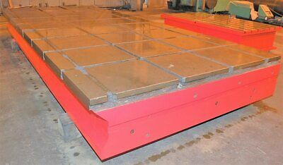 2 T-slotted Cast Iron Floor Plates 90 X 215 X 19
