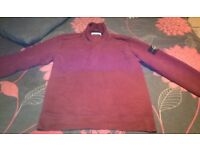 Genuine burgundy stone island quarter zip sweatshirt size medium