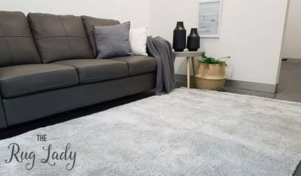 NEW!!! Large Light Grey Shaggy Floor Rug