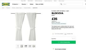 Blekvia White Ikea Curtains 145x300cm brand new in packet