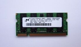 New 2GB DDR2 667MHz Laptop Ram memory - Brand: Micron, Perfect condition, Fully working