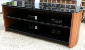 ALPHASON WALNUT & BLACK GLASS TV UNIT