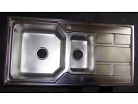 Brand new kitchen sink double bowl and a third never used in box