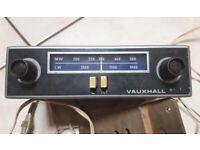 Vintage Vauxhall car radio