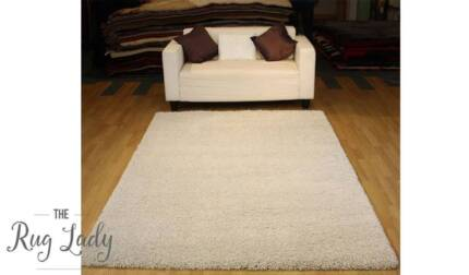 NEW!!! Medium Shaggy Beige Floor Rug