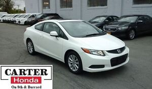 2012 Honda Civic EX + COUPE + SUNROOF + ALLOYS + CERTIFIED!