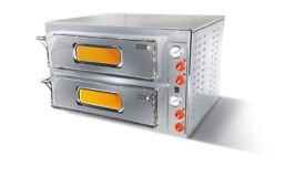 Brand new Italian commercial stone bake double twin deck electric pizza oven 1 year warranty