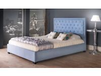 NEW Kingsize bed frame with memory foam mattress