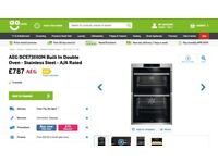 NEW/GRADED AEG DCE731110M Built In Double Oven Stainless Steel with WARRANTY