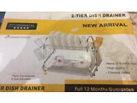 Brand new 2 tier dish drainer