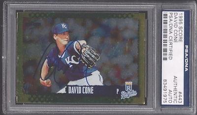David Cone Hand Signed - DAVID CONE ROYALS HAND SIGNED CARD PSA DNA AUTO 1995 SCORE #443
