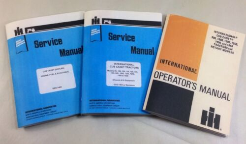 2 INTERNATIONAL CUB CADET 1450 SERVICE AND OPERATOR MANUALS OWNERS REPAIR IHC