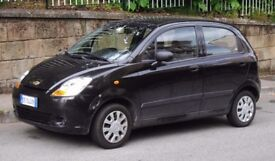 Black Chevrolet matiz