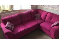 Pink L shaped sofa for sale