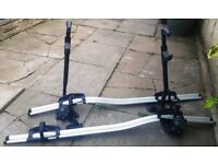 TWO Thule ProRide 591 Bike Rack Bicycle Cycle Carrier Roof Mounted Upright