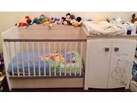 Sell baby Cot with changing table included ...