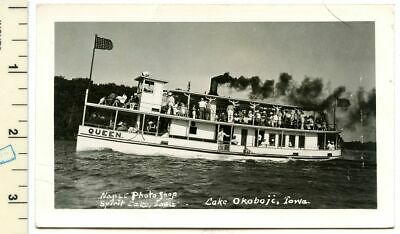 Iowa Post Card The Queen Spirit Lake Lake Okoboji Post Marked 1948