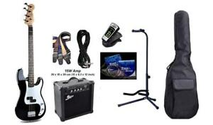 Christmas Gift ! Bass Guitar Amp package brand new including 15W amp, stand, etuner, gig bag, string set, strap, Cable