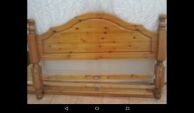 5ft chunky pine bed.