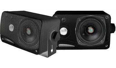 """NEW  3.5"""" Enclosed Box Speakers.Outdoor Maine Boat ATV Stere"""
