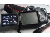 Canon EOS 600D digital camera + Accessories.