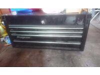 "40"" black snap on tool box with keys"
