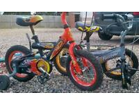 Two toddlers bikes upto 3yrs old