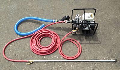 Portable Sealcoating Spray System with Honda Motor, Koshin Pump, Wand, Hose