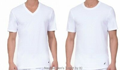 Nautica Men's Undershirt T-shirt Crew / V-neck White Sm - Md - Lg - XL