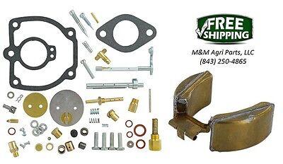 Farmall Ih 400 450 Tractor Complete Carburetor Kit Float Ih Carb 362173r92