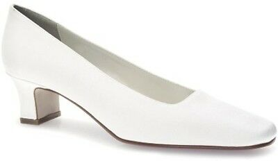 Touch Ups Betty White Crepe Luxe Women Bridal Low Heel Shoes Touch-ups Low Heel Heels