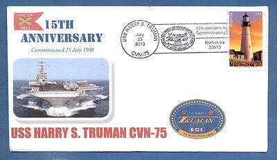 GREYTCOVERS NAVAL COVER USS HARRY S. TRUMAN CVN-75 15TH ANNIVERSARY