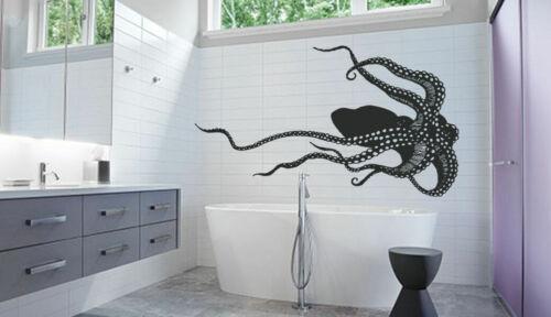 ik1203 Wall Decal Sticker octopus marine animals nautical de