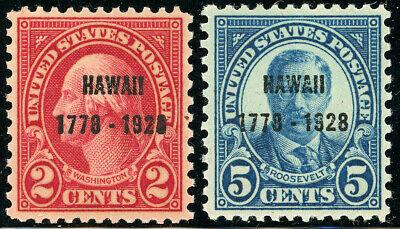 US Scott #647 & 648 Hawaii 2¢ & 5¢ Overprint  SET of 2  MNH/MLH ***FREE SHIP***