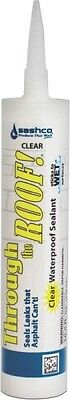 NEW CASE (12) SASHCO 14010 THROUGH THE ROOF CLEAR ROOF SEALANT CAULK 6012389 ()