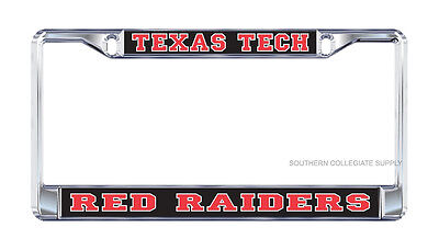 Texas License Plate Frames (TEXAS TECH Red Raiders Chrome License Plate Frames)