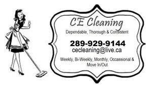 CE Cleaning Services; Office Availability