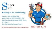 Heat and AC  professional services