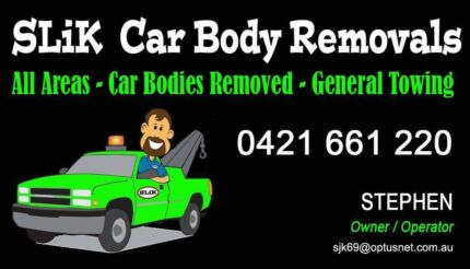 Car body removal and towing