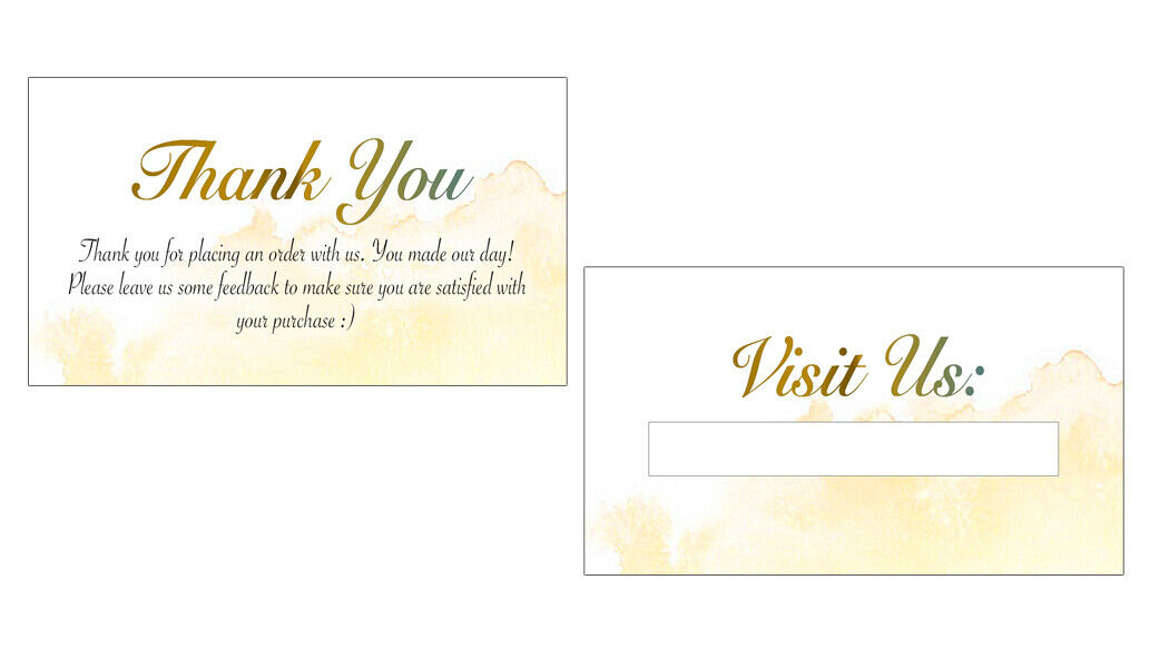 Thank You Cards - Thank You For Your Business - Set Of 200 Cards - $13.99