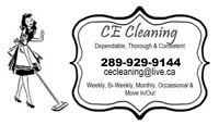 CE Cleaning Services; Office & Post Construction Openings
