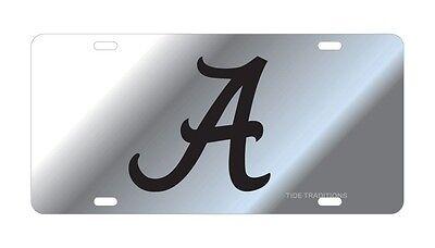 UNIVERSITY OF ALABAMA CRIMSON TIDE Silver Mirrored License Plate / Car Tag  Crimson University