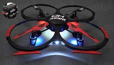 Hero RC UDI U818A QuadCopter 6 Axis Drone HD Camera +4GB MicroSD +(3) Battery