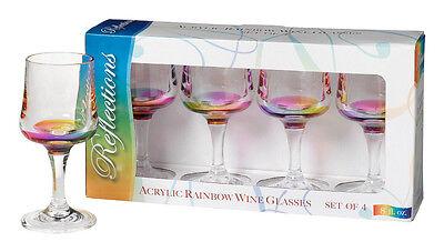 Acrylic Rainbow Reflections Wine Glasses by Merritt International - Set of 4