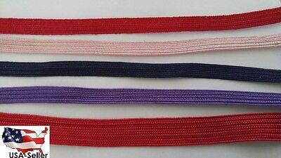 Soutache Cord - $1 3 yards red navy blue purple baby pink fuchsia soutache flat cord trim.