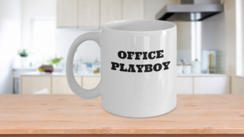 Funny Office Playboy Coffee Mug Work Gag Joke Gift For Cowor
