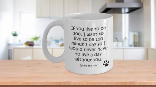 Pooh bear mug - winnie the pooh coffee tea cup - love gifts