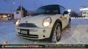 2006 MINI Cooper NO ACCIDENT|LOW KM|LEATHER|ALLOYS|HEATED SEATS