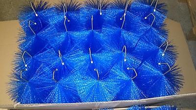 24 x Filterbürste 70 cm Ø 150mm Blau Gartenteich  Filterbürste Teichfilter