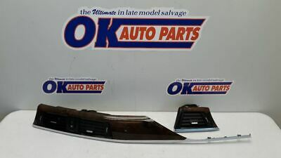 14 2014 BMW 328i OEM DASH VENT TRIM SET WOOD GRAIN AND CHROME